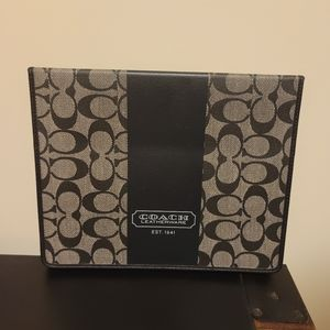 NWT COACH HERITAGE STRIPE iPad Android TABLET CASE